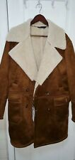 Zara Men's Shearling jacket Suede With Faux Fur Interior, New With Tags, Size M