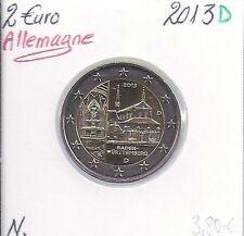 2 Euros - ALLEMAGNE - 2013 - Lettre: D // Pièce de Monnaie en Qualité: Neuve