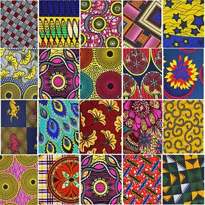 African ANKARA Wax Print Cotton Fabric Fat Quarters Bundle Craft Quilt Patchwork