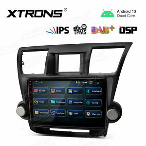 10.1'' Android 10.0 Car GPS Stereo Radio DSP 2 DIN 2+16GB For Toyota Highlander