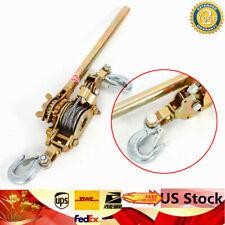 New 2ton Hand Lever Puller Come Along Double Hooks Cable Hd 4400lb Hoist Ratchet