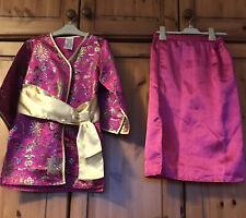 Oriental Style Dress Up Kimono & Skirt, Age 4-7 Yrs, Ladybird, Excellent