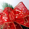 Sparkle Wired Christmas Ribbon Large 63mm Wide Glitter Ribbon cake Gift Bows