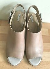 GEOX RESPIRA TAN LEATHER SANDALS SHOES SIZE 6/EUR 39.