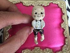 Betsey Johnson Vintage Dollhouse Doll House Boy Cupid Cupie Stretch Ring RARE
