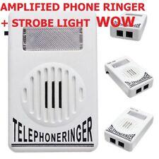 EXTRA LOUD PHONE RINGER AMPLIFIED FLASH LIGHT RJ11 RJ45 TELEPHONE PHONE RING DIY