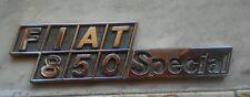 FIAT 850 Special Sigla Modello Scritta Originale CROMODORA REAR NAMEPLATE