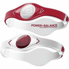 Authentic Power Balance Silicone Wristband - Home & Away Crimson/White - XS