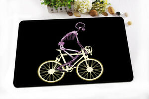 Cycling Skeleton Non-skid Office Kitchen Room Mat Carpet Door Floor Area Rug