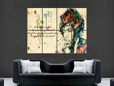 Jimi Hendrix leyenda de la música de arte imagen gran Pared Cartel Imagen