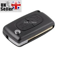 2 Button Replacement Flip Key Fob Case Shell Blade For PEUGEOT 207 307 308 & 407