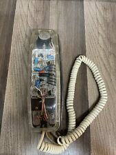Vtg Lenox Sound Cord Clear Lighted Phone Transparent PH 1400 AS-IS UNTESTED