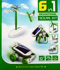 NEW Environmental 6 in 1 Solar Powered Models DIY Educational Science Kit