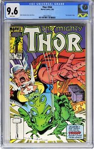S429. THOR #364 Marvel CGC 9.6 NM+ (1986) THOR Becomes a Frog; WHITE Pages