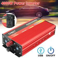 4000W 8000Watt Inversor de Energía Corriente USB DC 12V a AC 220V Power Inverter