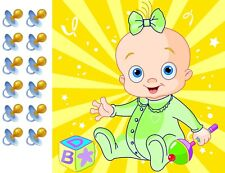 Pin the Pacifier on the Baby Gender Neutral Shower Game Party Accessory boy girl