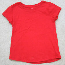 Red T-Shirt Wonder Nation S/CH (6-6X) Solid Crew Neck Cotton Polyester Top S13