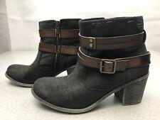 Roxy Ankle Zip Up Boots Steampunk Size 8.5 KG WS2