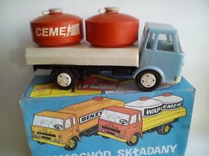 VINTAGE STAR TOY TRUCK CISTERN LARGE FRICTION POWERED POLAND NOT ORIG. BOX