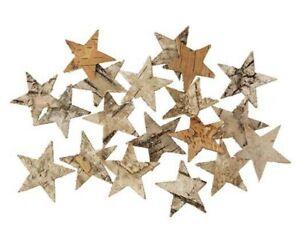 300 Stk Birkensterne Sterne Birke Holzsterne Deko Stern Holz Weihnachtsdeko XMAS