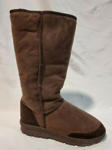 UGG Boots Long Mens US 9, Aus 8 Ladies US 10 Eur 41/42 Brown Sheepskin Suede New