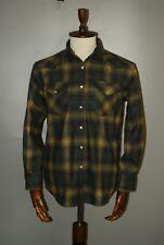 Mens Pendleton Canyon Western Pearl Snap Shadow Plaid Long Sleeve Wool Shirt S