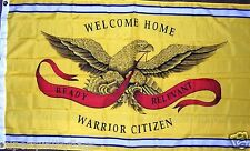 SUPPORT OUR TROOPS WELCOME HOME WARRIOR CITIZEN MILITARY NEW 3X5 ft FLAG au