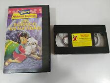 UN BORRICO EN NAVIDAD VHS COLECCIONISTA EDICION ESPAÑOLA CLASICOS WALT DISNEY