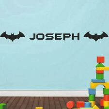 Batman Superhero Name Wall Sticker Kids Bedroom Custom Art Girls Boys | NA55
