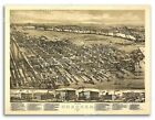 1881 Hoboken New Jersey Vintage Old Panoramic City Map - 20x28