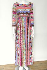 c 60s Vintage Emilio Pucci Wool Jersey Dress Psychedelic Geometric Pattern