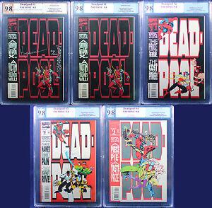 DEADPOOL: CIRCLE CHASE #1-4 (1993 Marvel) + BONUS all PGX 9.8 NM/MT BOOM +CGC!!!