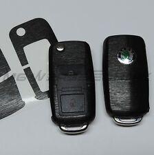 2S_Schlüssel-Dekor Aufkleber Skoda Fabia Oktavia Superb RS schwarz alu gebürstet