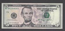 $5 FEDERAL RESERVE NOTE 2013, ATLANTA (MF94154808B), UNC