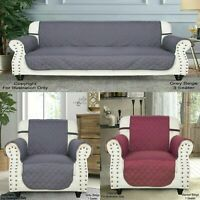 Quilted Sofa Slip Cover Throw Pet Protector Waterproof Furniture Couch 3 Size