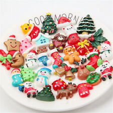 20x Christmas Gift Resin Flatback Slime Charms for Ornament Scrapbook DIY Crafts