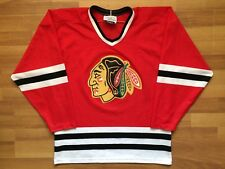 CHICAGO BLACKHAWKS NHL  VINTAGE HOCKEY SHIRT JERSEY CCM GERRY COSBY