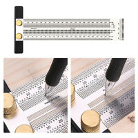 Stainless Scale Ruler T-type Hole Ruler Woodworking Scribing Gauge Measure Tools
