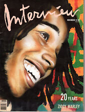 Andy Warhol - INTERVIEW MAGAZINE November 1989 Ziggy Marley Capote Chuck Jones