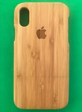 For Apple iPhone X, iPhone XS, iPhone X10 Genuine Real Bamboo Wood Case Cover