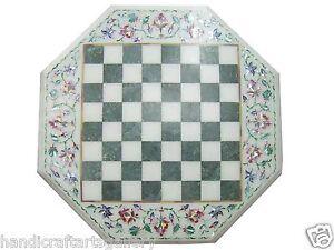 2'x2' Marble Chess Coffee Table Top Mosaic Inlay Handmade Furniture Home Decor