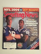September 6 2004 The Sporting News   Peyton Manning  Marvin Harrison  Colts
