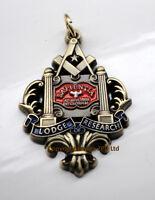 ZP374 Freemason Jewel Pendant Masonic Lodge of Research