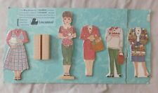 Mary Elizabeth Longaberger Paper Doll With 5 Outfits & Stand