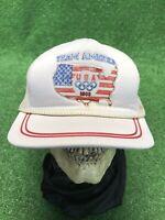 Vintage 1988 Team America USA Olympics White Snapback Hat Cap Fast Ship