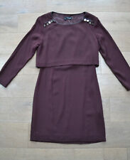 The Kooples ladies layered burgundy military style dress 36 / Small