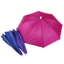 1pc Outdoor Foldable Head Umbrella Hat Anti-Rain Elastic Band Fishing UmbrellaBI