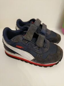 Puma sneakers sz  7 white blue suede Toddler Boy Girl