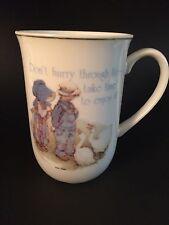 Vintage Holly Hobbie & Friend Porcelain Mug Cup Gold Trim Geese