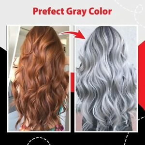 Silver Gray color Hair Dye Hair Cream Smoky DIY Hair 100ml Color Modelling Cream